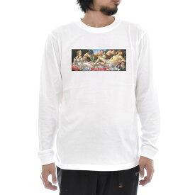 【アートTシャツ】サンドロ・ボッティチェッリ Tシャツ ヴィーナスとマルス ビーナス Life is ART ライフ イズ アート 長袖 ロングスリーブ ロンT メンズ レディース 大きいサイズ ビック おしゃれ 絵画 名画 ティーシャツ S M L XL XXL ホワイト 白 ブランド