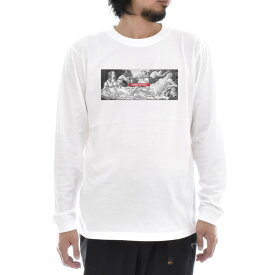 【アートTシャツ】サンドロ・ボッティチェッリ Tシャツ ヴィーナスとマルス モノクロ ビーナス Life is ART ライフ イズ アート 長袖 ロングスリーブ ロンT メンズ レディース 大きいサイズ ビック おしゃれ 絵画 名画 ティーシャツ S M L XL XXL ホワイト 白 ブランド