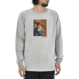 【アートTシャツ】ヨハネス・フェルメール Tシャツ 赤い帽子の女 Life is ART ライフ イズ アート 長袖 ロングスリーブ ロンT メンズ レディース 大きいサイズ ビック おしゃれ 絵画 名画 ティーシャツ S M L XL XXL グレー 灰 ブランド