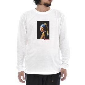【アートTシャツ】ヨハネス・フェルメール Tシャツ 真珠の耳飾りの少女 Life is ART ライフ イズ アート 長袖 ロングスリーブ ロンT メンズ レディース 大きいサイズ ビック おしゃれ 絵画 名画 ティーシャツ S M L XL XXL ホワイト 白 ブランド