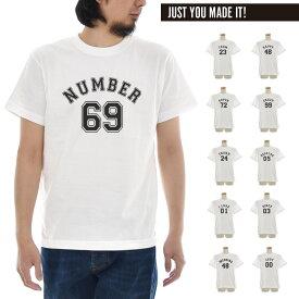 ナンバー Tシャツ ナンバリング 半袖Tシャツ カスタムオーダー メンズ レディース 大きいサイズ ビックサイズ おしゃれ ティーシャツ オリジナル プリント 数字 ギフト 贈り物 白 S M L XL XXL 3L 4L ブランド JUST ジャスト