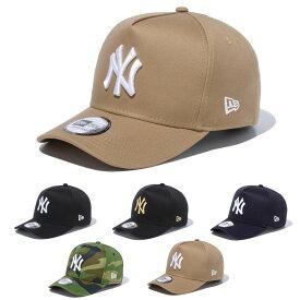 ニューエラ new era NEWERA キャップ CAP スナップバック 9FORTY D-Frame 940 ヤンキース メンズ レディース キッズ ブランド サイズ調整可能 ベースボールキャップ 野球帽 帽子 カーブバイザー シンプル ベージュ ニューエラ new era NEWERA