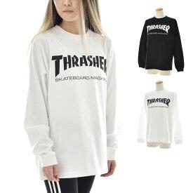 スラッシャー THRASHER Tシャツ ロンT ロゴ マグロゴ ロングスリーブTシャツ 長袖Tシャツ トップス カットソー メンズ レディース ブランド SK8 スケートボード ブラック 黒 ホワイト 白 MAG LOGO L/S TEE TH8301 スラッシャー THRASHER