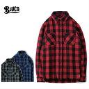 BLUCO ブルコ OL-048-019 ヘビーネルシャツ HEAVY NEL SHIRTS -buffalo check-