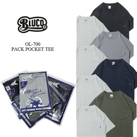 BLUCO ブルコ OL-700 ORIGINAL 2PACK POCKET TEE 2枚セット 2パック Tシャツ