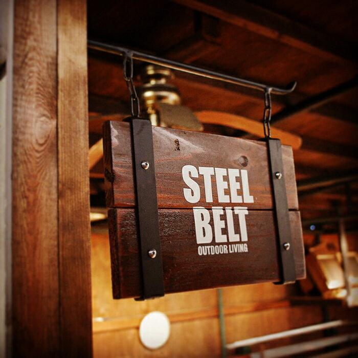 STEEL BELT オリジナルスウィングサインプレート W300×H180 レッドシダー ウッド アイアン 無垢 アンティーク ウエスタン モダン ビンテージ 店舗看板 インテリア雑貨 おしゃれ雑貨 看板 男前 お好きな文字入れます!!