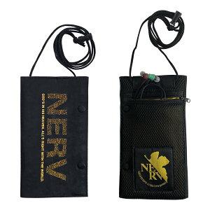 トラベルポーチ エヴァンゲリオン NERV 黒 ロゴ ブラック バッグ ポーチ 財布 キャラクター 男女兼用 旅行 収納 ポケット 小物 セット