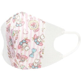 マイメロディ 立体マスク 10枚入 子供用 携帯 マスク ピンク マイメロディ 使い捨て マスクケース サンリオ こども 大容量 女の子