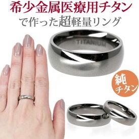 金属アレルギー対応 チタンリング シャイニーラウンドチタンリング 指輪 ニッケルフリー