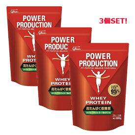 グリコ パワープロダクション 【POWER PRODUCTION】 ホエイプロテイン プレーン味 800g 3個セット サプリメント 76035-3P