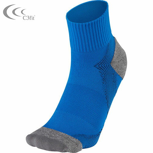 【DEAL☆15倍☆24日9:59まで】【シースリーフィット】C3fit Arch Support Quarter Socks【アーチサポートクォーターソックス(ユニセックス)ブルー】3f65300-b ソックス 靴下 【dl】STEPSPORTS