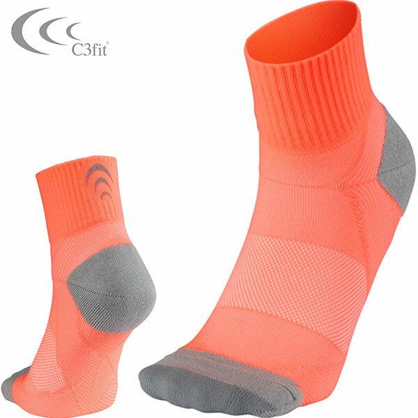 【DEAL☆15倍☆24日9:59まで】【シースリーフィット】C3fit Arch Support Quarter Socks【アーチサポートクォーターソックス(ユニセックス)コーラルピンク】3f65300-co ソックス 靴下 【dl】STEPSPORTS