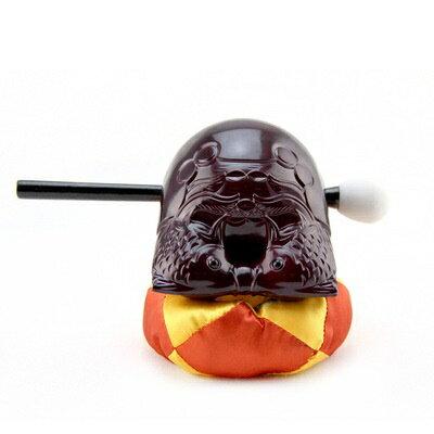 座布団に鎮座するポクポク木魚、おもちゃとしても、飾りとしてもGOOD
