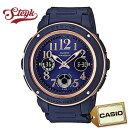 CASIO BGA-150PG-2B2 カシオ 腕時計 アナログ Baby-G ベビージー レディース ネイビー ピンク ゴールド カジュアル