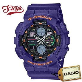 CASIO GA-140-6A カシオ 腕時計 アナデジ G-SHOCK Gショック メンズ ブラック パープル カジュアル