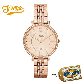 FOSSIL ES3546 フォッシル 腕時計 アナログ JACQUELINE ジャクリーン レディース ローズゴールド ストーン カジュアル