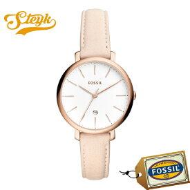 FOSSIL ES4369 フォッシル 腕時計 アナログ JACQUELINE ジャクリーン レディース ホワイト ヌード ローズゴールド カジュアル