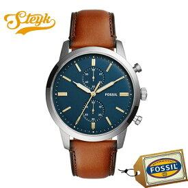 FOSSIL FS5279 フォッシル 腕時計 アナログ TOWNSMAN タウンズマン メンズ ネイビー ブラウン ビジネス