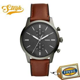 FOSSIL FS5522 フォッシル 腕時計 アナログ TOWNSMAN タウンズマン メンズ ブラック ブラウン シルバー カジュアル