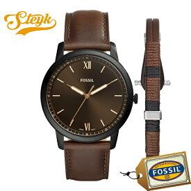 FOSSIL FS5557SET フォッシル 腕時計 アナログ THE MINIMALIST メンズ ブラック ブラウン カジュアル