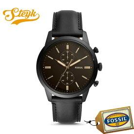FOSSIL FS5585 フォッシル 腕時計 アナログ TOWNSMAN タウンズマン メンズ ブラック ビジネス カジュアル