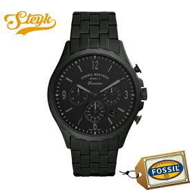 【15日23:59まで!店内ポイント最大36倍】FOSSIL FS5697 フォッシル 腕時計 アナログ Forrester Chrono フォレスタークロノ メンズ ブラックサテン ブラック カジュアル