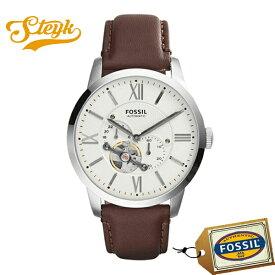 FOSSIL ME3064 フォッシル 腕時計 アナログ Townsman メンズ ホワイト ブラウン シルバー カジュアル