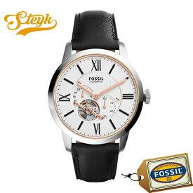 FOSSIL ME3104 フォッシル 腕時計 アナログ Townsman メンズ ホワイト ブラック ゴールド カジュアル