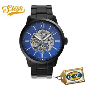 FOSSIL ME3182 フォッシル 腕時計 アナログ TOWNSMAN タウンズマン 自動巻き メンズ ブルーサテン ブラック カジュアル