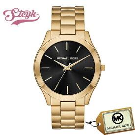 Michael Kors MK8621 マイケルコース 腕時計 アナログ Slim Runway メンズ ブラック ゴールド カジュアル