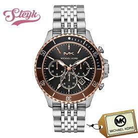 Michael Kors MK8725 マイケルコース 腕時計 アナログ BAYVILLE メンズ ブラック シルバー カジュアル