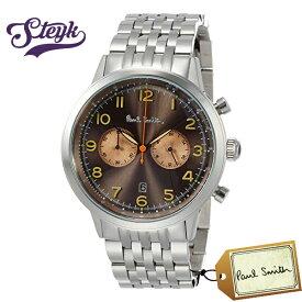 Paul Smith P10019 ポールスミス 腕時計 アナログ プレシジョン PRECISION メンズ ブラウン シルバー カジュアル