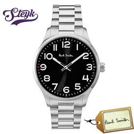 Paul Smith P10064 ポールスミス 腕時計 アナログ メンズ ブラック シルバー カジュアル