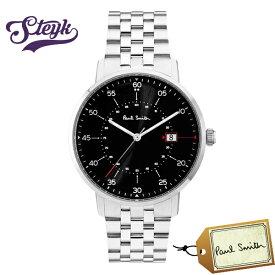 Paul Smith P10073 ポールスミス 腕時計 アナログ ゲージ GAUGE メンズ ブラック シルバー カジュアル