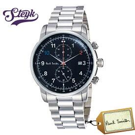 Paul Smith P10143 ポールスミス 腕時計 アナログ Block Chrono メンズ ブラック シルバー カジュアル