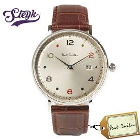 Paul Smith PS0060002 ポールスミス 腕時計 アナログ Gauge Colour メンズ ホワイト ブラウン シルバー カジュアル