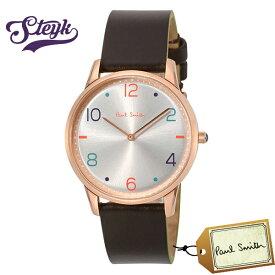 Paul Smith PS0100005 ポールスミス 腕時計 アナログ Slim スリム メンズ シルバー ダークブラウン ローズゴールド カジュアル