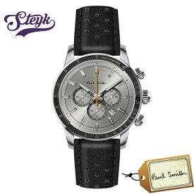 Paul Smith PS0110002 ポールスミス 腕時計 アナログ Chrono 43 メンズ ホワイト ブラック シルバー カジュアル