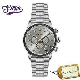 Paul Smith PS0110008 ポールスミス 腕時計 アナログ Chrono 43 メンズ ブラック シルバー カジュアル
