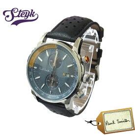 Paul Smith PS0110020 ポールスミス 腕時計 アナログ クロノグラフ レザー メンズ ブラック ブルー