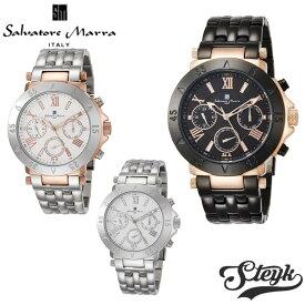 【あす楽対応】Salvatore Marra サルバトーレマーラ 腕時計 アナログ クォーツ SM14118-SSWH・SM14118-SSBK・SM14118-PGWH・SM14118-PGBK・SM14118-IPBK・SM14118-PGNV ステンレス メンズ【送料無料】