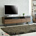【送料無料】テレビ台 テレビボード 幅150 国産品 完成品 木製品 収納家具 リビングボード ローボード リビング収納 大川家具 ウォールナット柄 脚付き コンセント付き