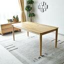 【クーポン配布中】ダイニングテーブル 幅165 6人用 木製 オーク無垢 食卓 テーブル ダイニング家具