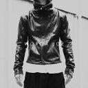 再度入荷後、即完売しました!  WORCA・JOE 本革 ライダースジャケット 遂に始動! 本革 レザージャケット 立ち襟 ライダースジャケット メンズ 革ジャン 皮ジャン バイカージャケット 細身タイト モード系 オールブラック
