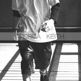 ★遂に登場!【WORCA KEITH】本革 を贅沢に使用した ショートパンツ リラックスが似合う レザー ショートパンツ モード系 レザーショーツ 個性派 レギンス メンズ