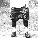 ★新タイプが遂に登場!【WORCA JACK】本革 を贅沢に使用した レザー サルエルパンツ  モード系 レザー サルエル ワイドパンツ メンズ レディース フリーサイズ ライダース パンツ