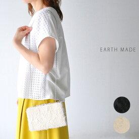 【30%OFF SALE/セール】30代〜40代 ファッション コーディネート刺繍 フリンジ パーティー バッグ ショルダー クラッチ パーティー 結婚式 EARTH MADE アースメイド E5078 アースメイド