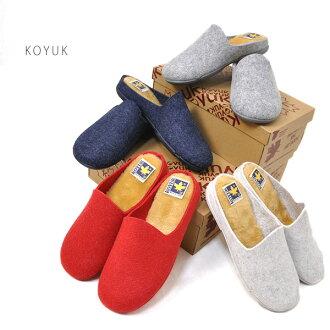 科尤克 28293 皮艇羊毛毡女鞋凉鞋