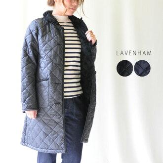 30's-40's fashion LAVENSTER×FUR HAUGHLEY quilted long coat (Raven star Holly) LAVENHAM lavenham WC3116315 0824 Rakuten card Division