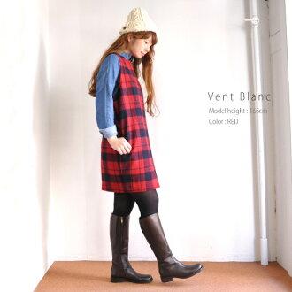 Vent Blanc VBO-1419 towel Melton check dress ladies-Japan